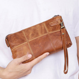 Crazy Horse Leather Vintage Clutch