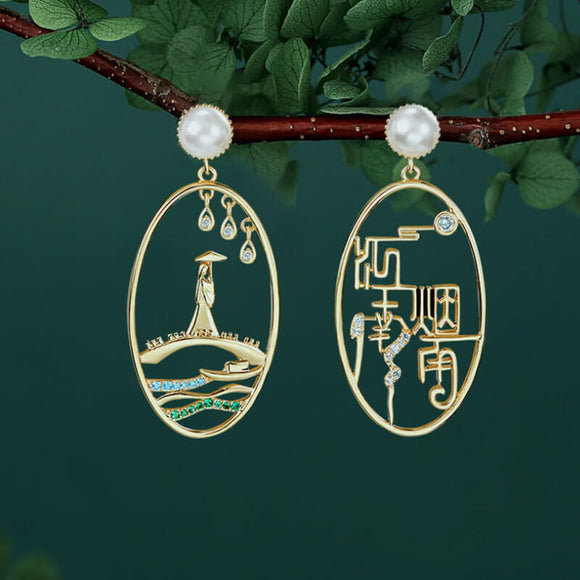 Retro temperament earrings-YANYUJIANGNAN