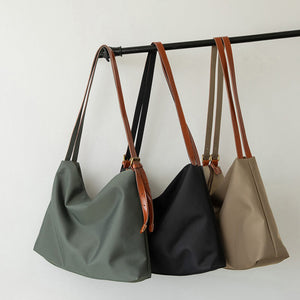 Large capacity washed canvas tote bag