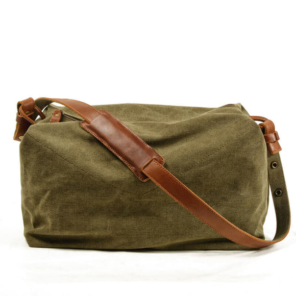 Art retro one-shoulder diagonal canvas bag
