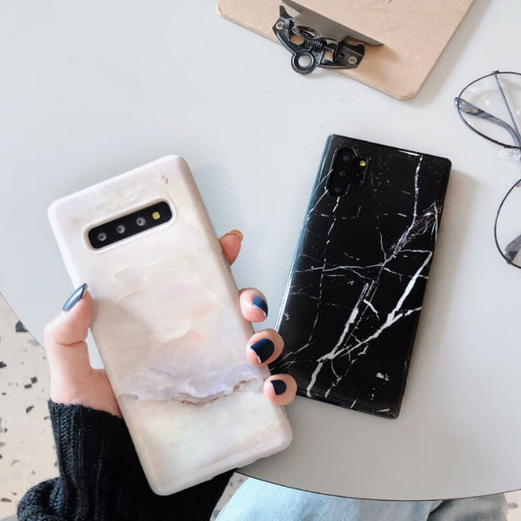 Marble style all-inclusive soft shell[Suitable for iPhone and Samsung Galaxy brands]