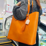 Large-capacity retro shoulder bag/tote bag