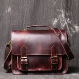 Vintage messenger bag briefcase