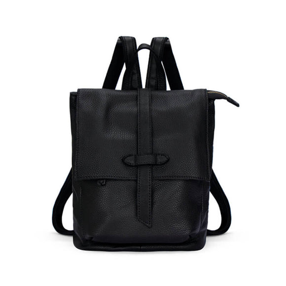 Leather retro backpack