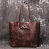 Large capacity crazy horse tote