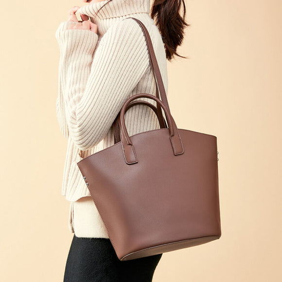 Large capacity solid color tote bag