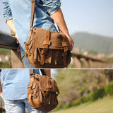 Vintage canvas men's and women's crossbody bag