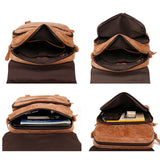 Multifunctional nubuck leather backpack