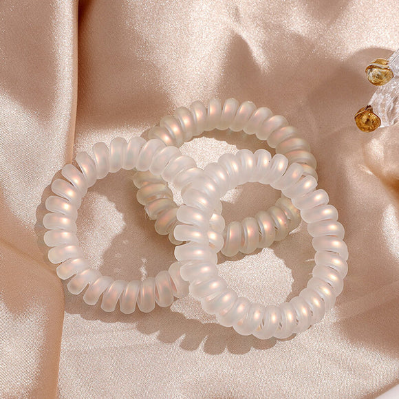 Pearlescent spiral hair tie-5 pieces