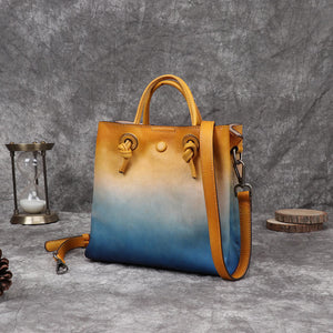 Leather gradient handbag