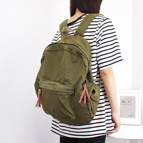 Retro large capacity travel backpack