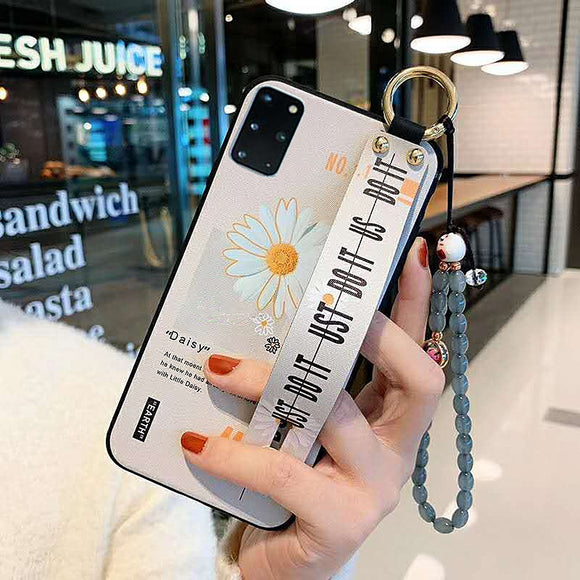 Literary Daisy Wristband Phone Case[Suitable for iPhone and Samsung Galaxy brands]