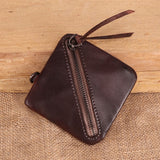 Vegetable tanned leather retro purse