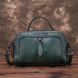 Vintage vine three-dimensional embossed crossbody bag