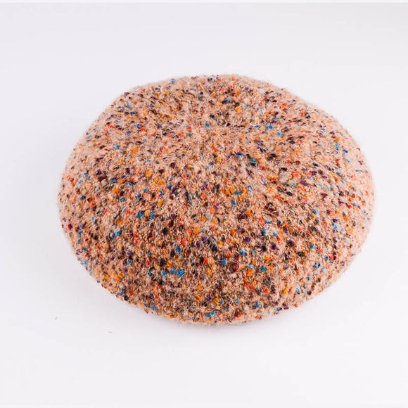 Rainbow beret autumn and winter hat ladies wool hat