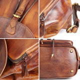 Mini casual leather backpack