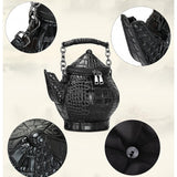 Teapot shape handbag/crossbody bag