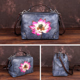 Thickened retro lotus handbag