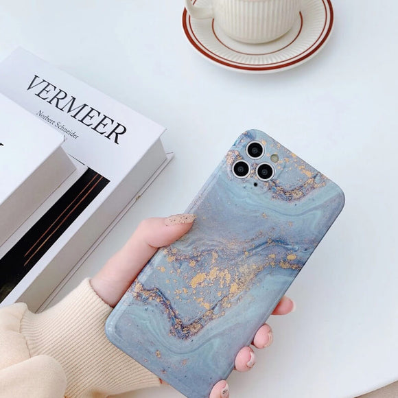 Marble style all-inclusive soft shell phone case-True Love[Suitable for iPhone and Samsung Galaxy brands]