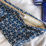 Embroidered fabric cosmetic bag / storage bag