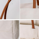 Pure Color Canvas Square Tote Bag