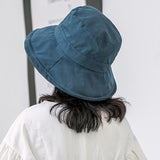Casual Solid Color Flat Top Bucket Hat