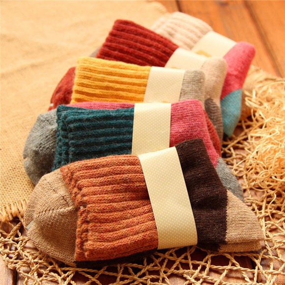 Women Winter Wool Thick Socks(5 Pairs)