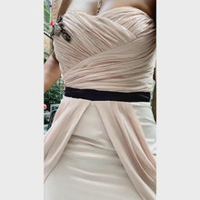 Load and play video in Gallery viewer, Blush chiffon bandeau dress