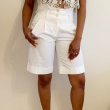 Load image into Gallery viewer, Crystal White dress shorts by Massimo Dutti