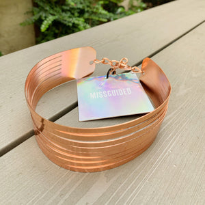 Rose gold choker by Missguided