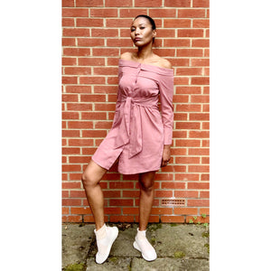 Rose Bardot tie dress by Boohoo