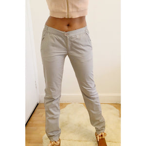 Grey Y2K casual cotton slacks from 2001