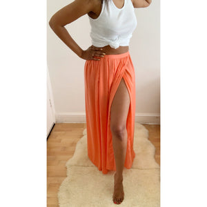 Regal Limited edition coral Zara maxi skirt