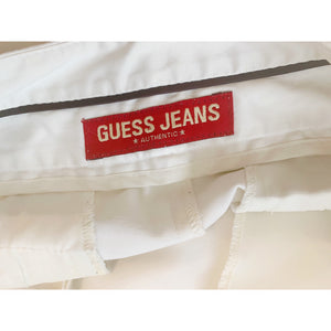Off-white vintage satin shorts from GUESS