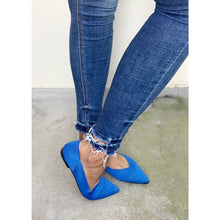 Load image into Gallery viewer, Royal blue flat pumps