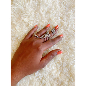Full finger cubic zirconia ring