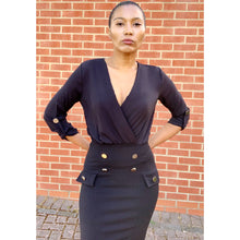 Load image into Gallery viewer, Black widow pencil dress by Boohoo