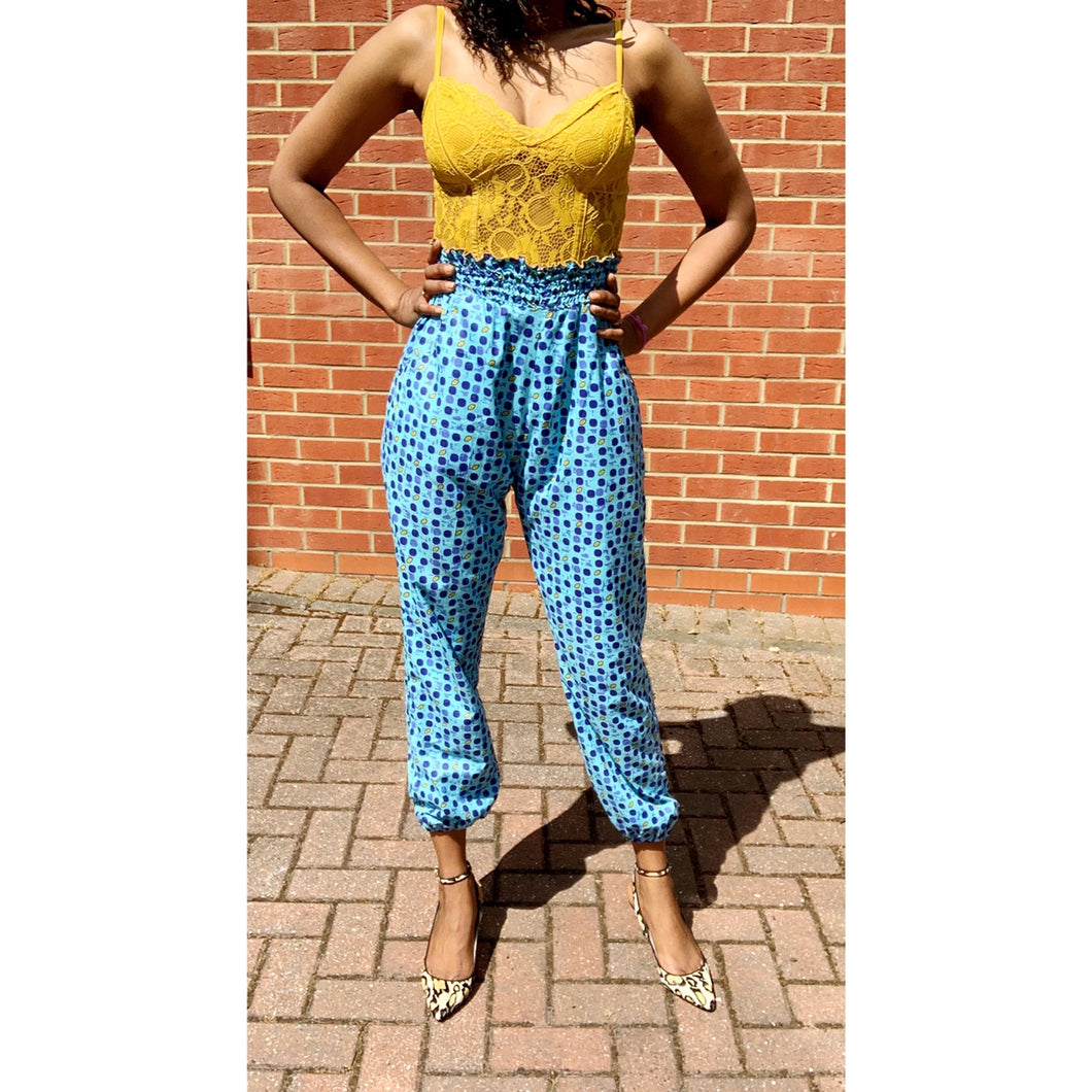 Afrochic Ankara joggers by yours truly
