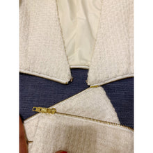 Load image into Gallery viewer, White Jacqueline Kennedy inspired tweed blazer