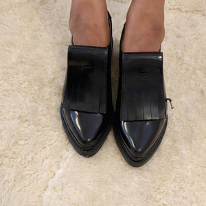 Brand new unworn black patent leather shoes from Zara