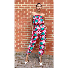 Load image into Gallery viewer, Afrochic Ankara jumpsuit by yours truly
