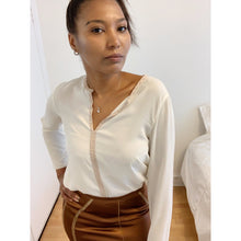 Load image into Gallery viewer, Formal cream chiffon blouse from Zara