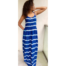 Load image into Gallery viewer, Royal blue tie-die maxi dress by Mango