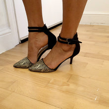 Load image into Gallery viewer, Strappy kitten heeled shoes from Zara