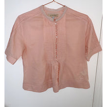 Load image into Gallery viewer, Pink vintage rose crop top By Chloé
