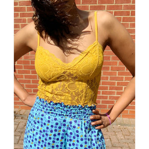 Mustard bodysuit by MissSelfridge