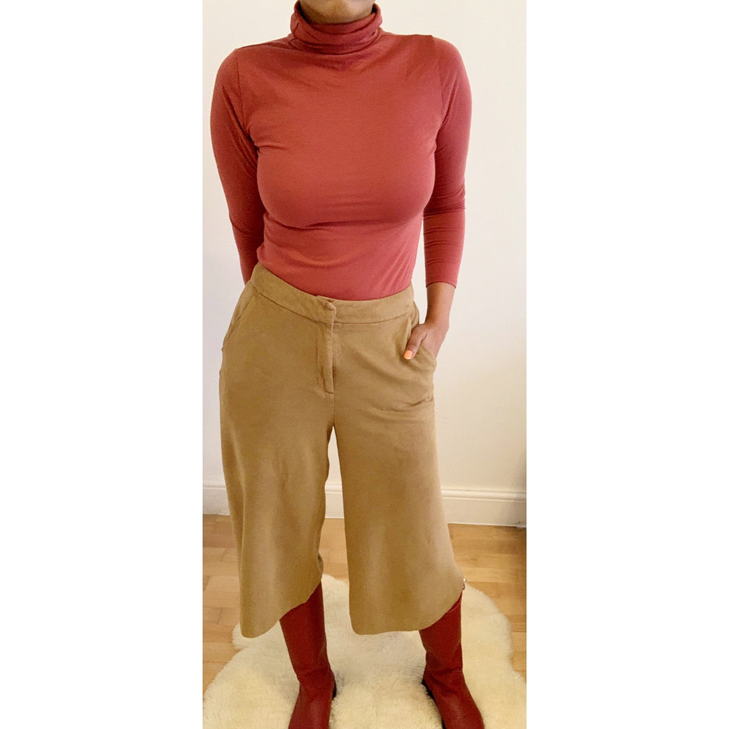 Preloved faux suede culottes by M&S