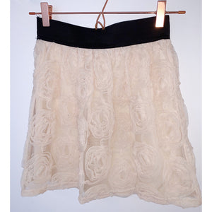 Rouched roses geographical chiffon skirt by Miss selfridge