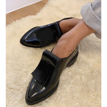 Load image into Gallery viewer, Brand new unworn black patent leather shoes from Zara