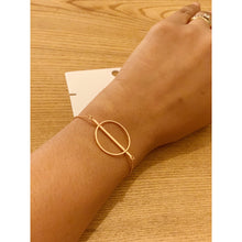 Load image into Gallery viewer, Bigmetallondon rosegold plated up-cycled bracelet